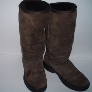 UGG Ultimate Tall Braid Brown Boots#5340